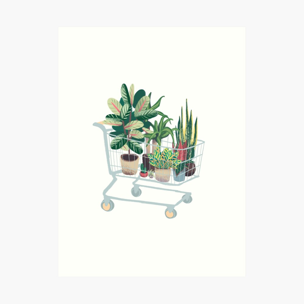 Plant friends Art Print