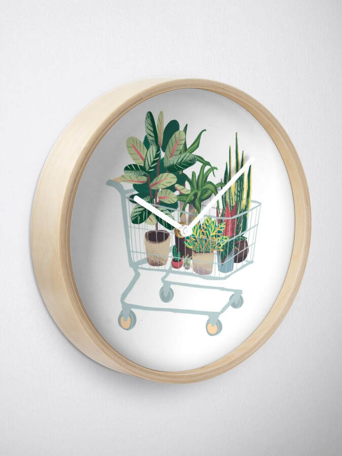 Alternate view of Plant friends Clock