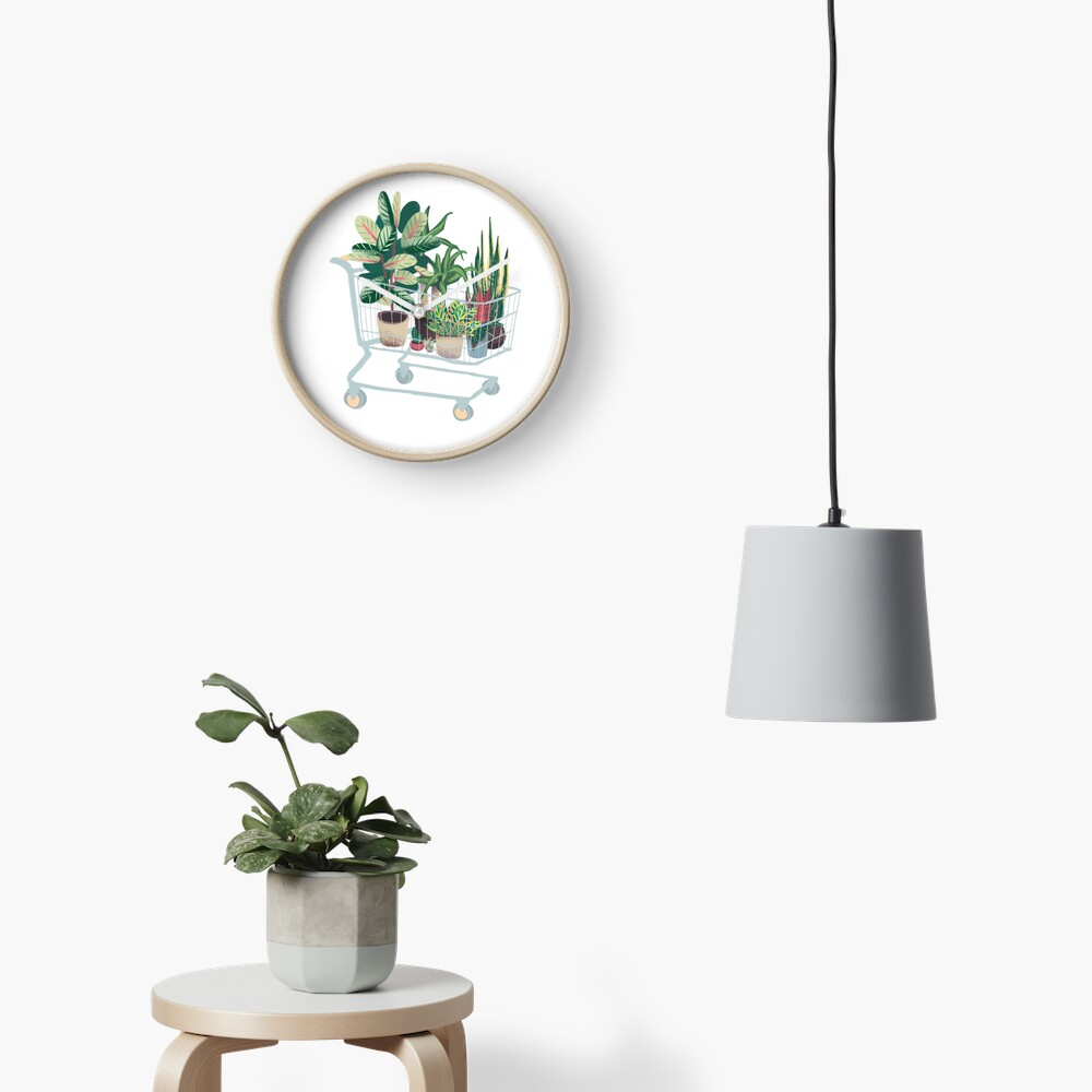 Plant friends Clock