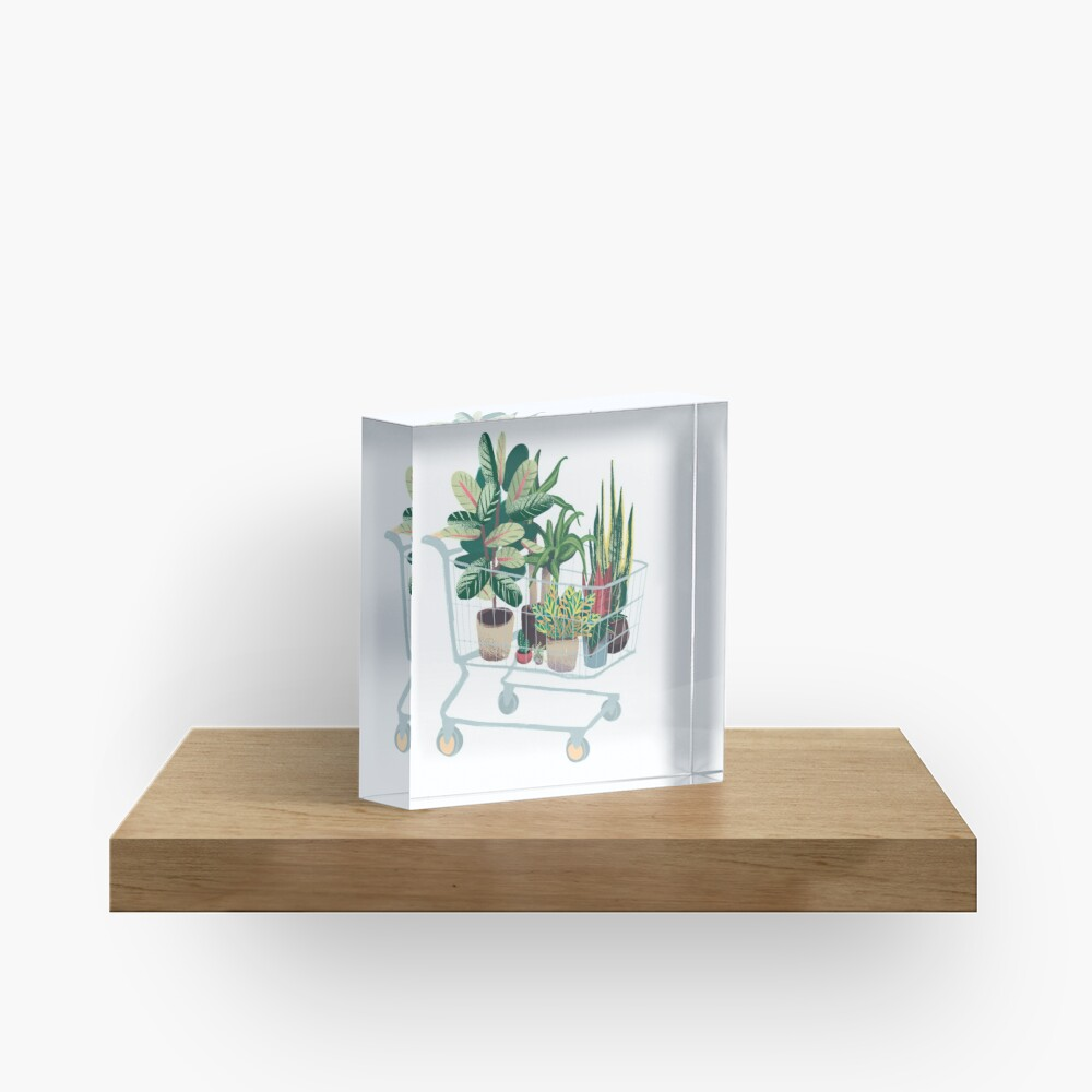 Plant friends Acrylic Block