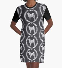 Norwegian Elkhound Silver Graphic T-Shirt Dress