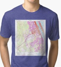 USGS TOPO Map Florida FL Daytona Beach 345748 1952 24000 Tri-blend T-Shirt