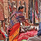 Shopping in Bhaktapur by Barbara  Brown