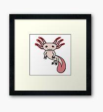Chibi Axolotl Framed Print