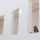 girl in white windows by Adria Bryant