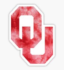 University of Oklahoma tie Dye Sticker