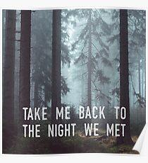 Die Nacht, die wir trafen Poster