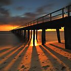 Sunset at Seaford Pier by Jim Worrall