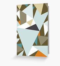 Geo-Lines Khaki // Abstract Bright Geometric Greeting Card