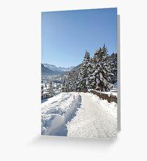 Winter in Switzerland Greeting Card