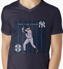 New York Yankees Captain Derek Jeter Mens V-Neck T-Shirt