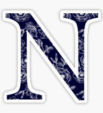 navy floral - nu Sticker
