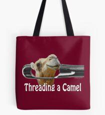 Threading a Camel Tote Bag
