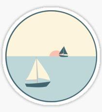 Sunset Sail Sticker