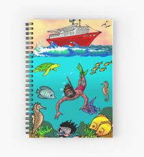 Divers in sea Spiral Notebook