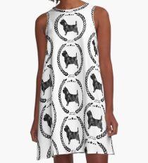 Cairn Terrier Camo Black A-Line Dress