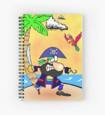 Captain Hook Pirate  Spiral Notebook