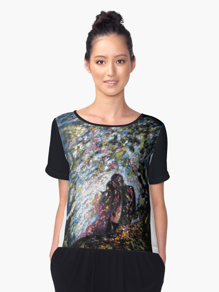 I am with my LOVE Women's Chiffon Top Front