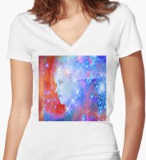Star Breakout Women's Fitted V-Neck T-Shirt