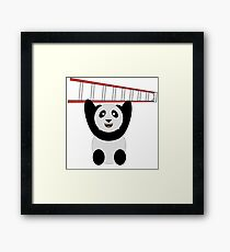 WWF Panda Vintage Ladder  Framed Print