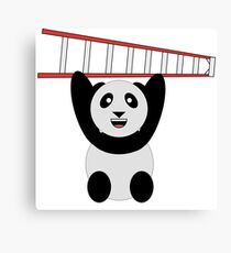 WWF Panda Vintage Ladder  Canvas Print