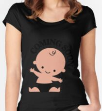 Baby coming soon Women's Fitted Scoop T-Shirt
