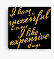 Girls successful Canvas Print