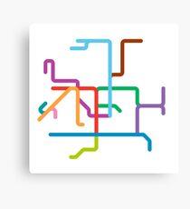 Mini Metros - Hong Kong Canvas Print