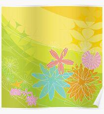 Retro 60s Flower Powered Spring Poster