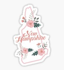 New Hampshire Floral State Sticker