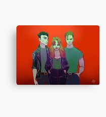 DC Greased Canvas Print