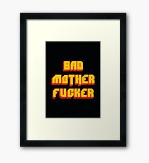 Pulp Fiction Bad MoFo Framed Print
