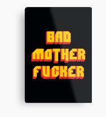 Pulp Fiction Bad MoFo Metal Print