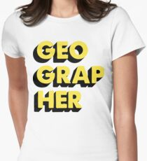 Geographer Womens Fitted T-Shirt