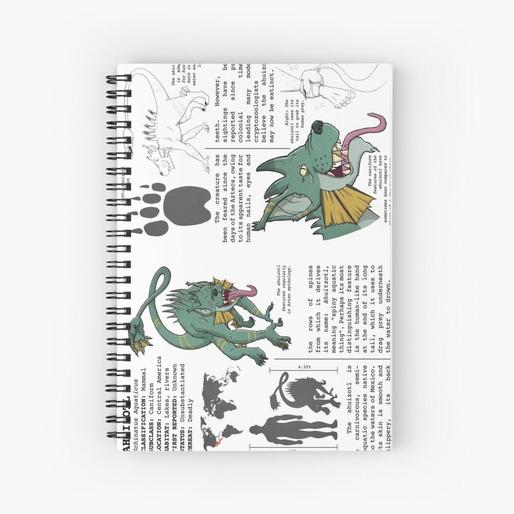 Monster Guide: Ahuizotl Spiral Notebook