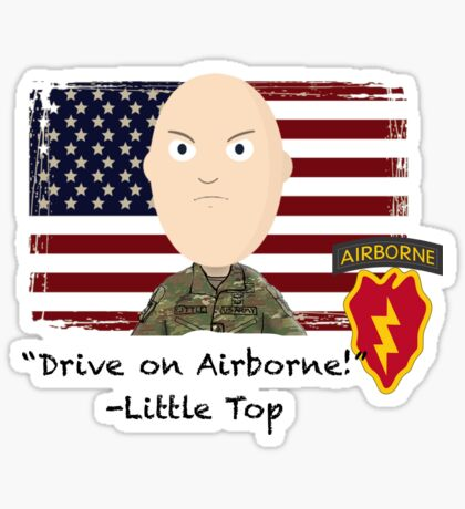Drive on Airborne- 25th Sticker