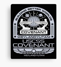 Alien Covenant mission - uscss covenant Canvas Print