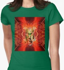 Fire Mask Womens Fitted T-Shirt