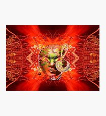 Fire Mask Photographic Print