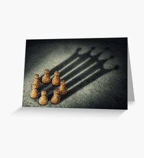 the pawns crown Greeting Card
