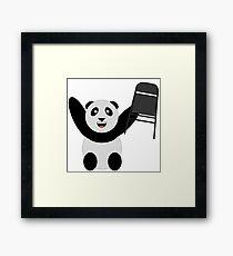 WWF Panda Parody Steel Chair Framed Print