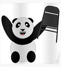 WWF Panda Parody Steel Chair Poster