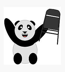 WWF Panda Parody Steel Chair Photographic Print