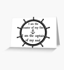 Captain of my soul Greeting Card