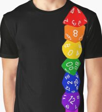 Dice tower-Rainbow Graphic T-Shirt