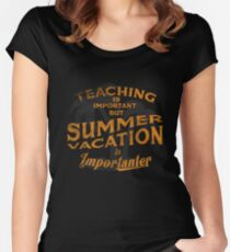 Teaching Is Important But Summer Vacation Gift Tee T Shirt Women's Fitted Scoop T-Shirt