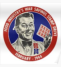 Food Industry's War Savings Stamp Drive Poster