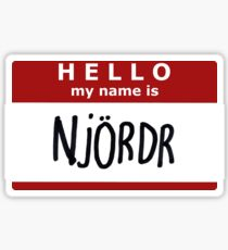 Hello, my name is Njordr! Sticker