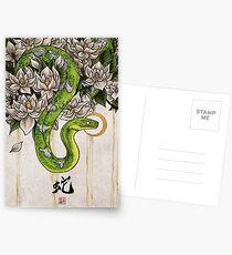 Schlange Postkarten