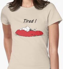 tired! Womens Fitted T-Shirt
